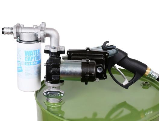 Заправочная колонка для бензина PIUSI DRUM EX50 12V DC ATEX с проводом питания + автом. пистолет
