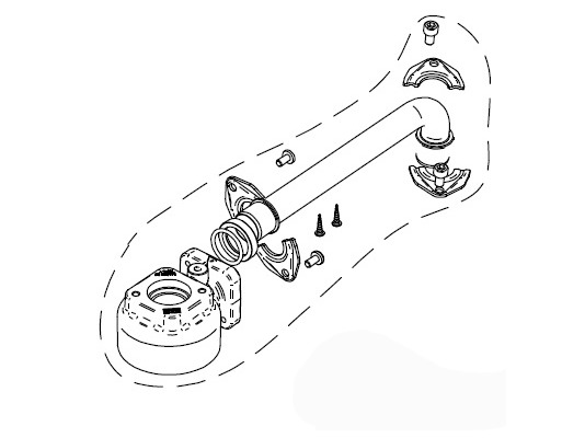 Фланцевое соединение с головой фильтра для PIUSIBOX R17312000